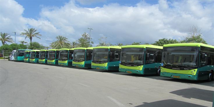 אוטובוסים חדשים פרי יצירה של מרכבים בחניון אגד תעבורה